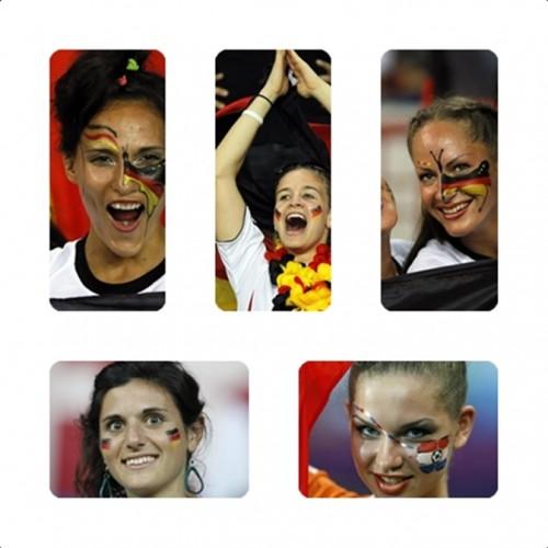 euro, 2012, olanda, germania, sfida, spalti, ragazze, tifose