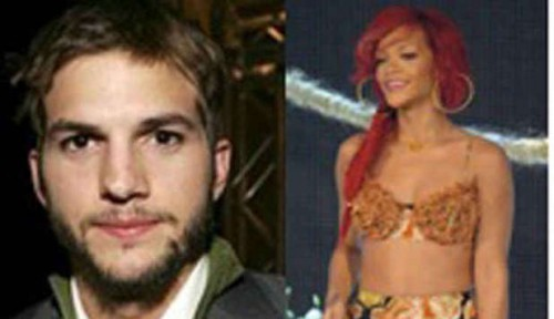 rihanna, ashton kutcher, avances, demi, moore, sexy, hot