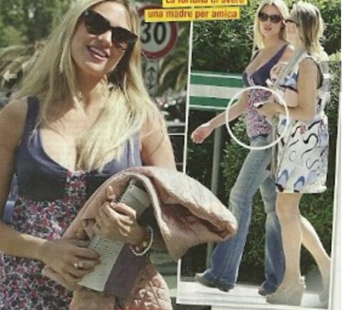 martina stella, gabriele gregorini, incinta, mamma